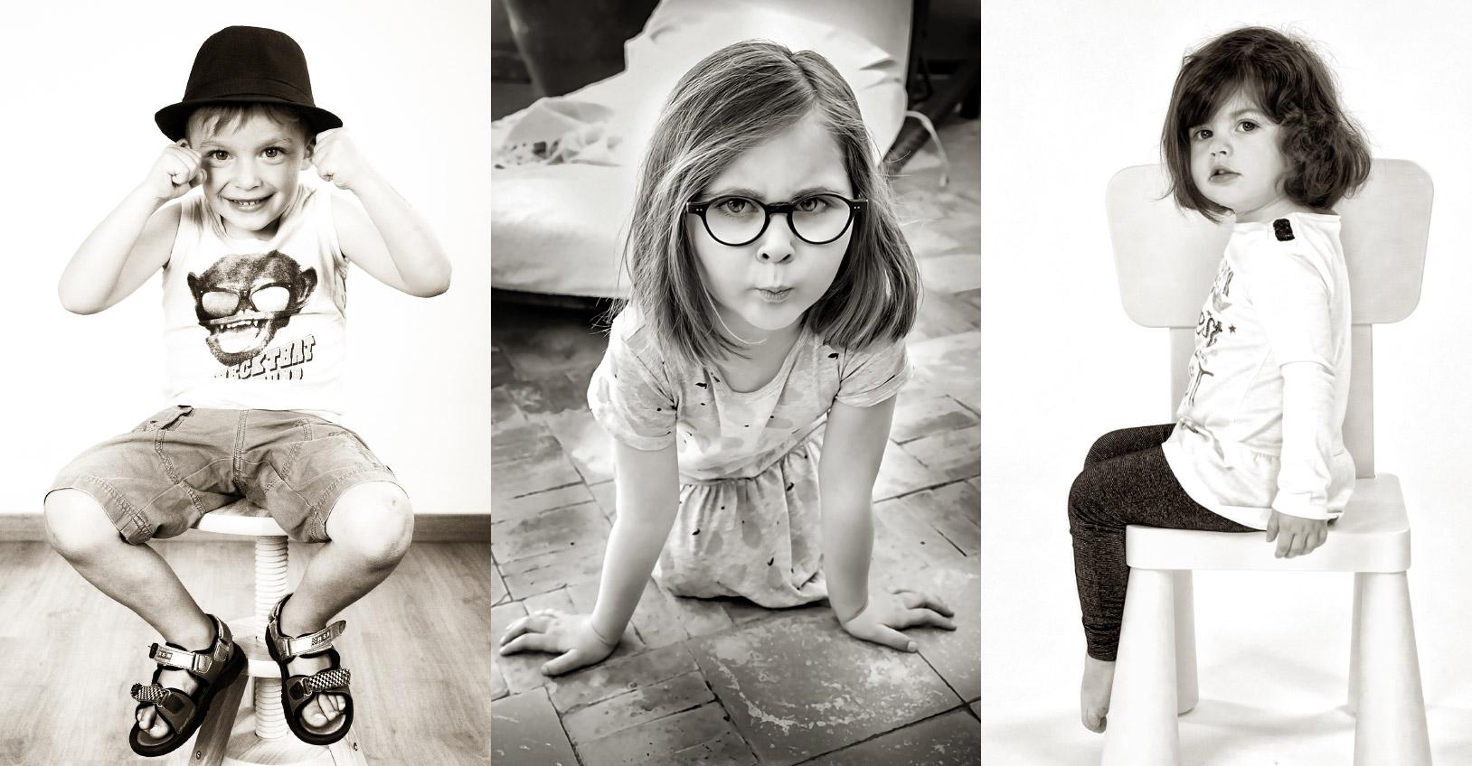 Portraits photo d'enfants, filles, garçon, en studio et extérieur à Carcassonne et Marrakech